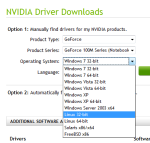 Nvidia linux drivers problem